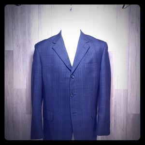 Modern Dark blue check Pronto Oumo Suit 42R Jacket
